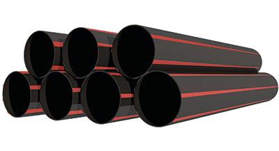 Red Stripe PE100 Pipe